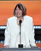 Gold Star Mother Pat Smith makes remarks at the 2016 Republican National Convention held at the Quicken Loans Arena in Cleveland, Ohio on Monday, July 18, 2016.<br /> Credit: Ron Sachs / CNP<br /> (RESTRICTION: NO New York or New Jersey Newspapers or newspapers within a 75 mile radius of New York City)