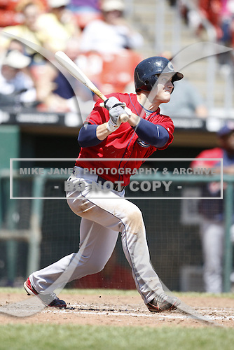 May 23, 2009:  Outfielder Trevor Crowe of the Columbus Clippers, International League Triple-A affiliate of the Cleveland Indians, during a game at Coca-Cola Field in Buffalo, NY.  Photo by:  Mike Janes/Four Seam Images