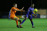 Andrew Freeman of Brentwood and Malaki Toussaint of Romford during Romford vs Brentwood Town, Velocity Trophy Football at the Brentwood Centre on 8th October 2019