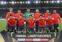 BOGOTÁ -COLOMBIA, 17-05-2018:Formación de Independiente de Avellaneda de Argentina. Acción de juego entre los equipos Millonarios de Colombia y el  Independiente  de Argentina durante partido por La Copa Conmebol Libertadores 2018 , grupo G ,fecha 5  ,jugado en el estadio Nemesio Camacho El Campín de la ciudad de Bogotá./Team of Independiente of Avellaneda of Arganetina. Action game between  Millonarios  of Colombia and Independiente of Argentina during match  by the Conmebol Libertadores Cup 2018, group G, date 5 ,played in Nemesio Camacho El Campín stadium of the Bogota  city. Photo: VizzorImage/ Felipe Caicedo / Staff