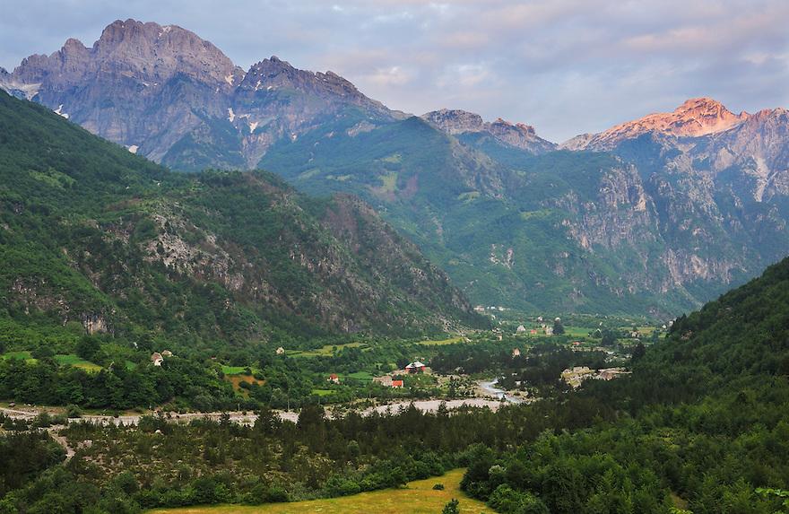 The remote village Thethi. Thethi National Park, Albania July 2009