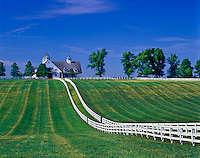 Manchester Horse farm, Lexington, Kentucky.(Editorial Use Only) (Not Property Released)
