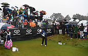 1st October 2017, Windross Farm, Auckland, New Zealand; LPGA McKayson NZ Womens Open, final round;  Brittany Lincicome tees off on the 1st