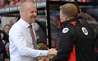 Burnley manager Sean Dyche shakes hands with Bournemouth manager Eddie Howe <br /> <br /> Photographer Ian Cook/CameraSport<br /> <br /> The Premier League - Bournemouth v Burnley - Saturday 13th May 2017 - Vitality Stadium - Bournemouth<br /> <br /> World Copyright &copy; 2017 CameraSport. All rights reserved. 43 Linden Ave. Countesthorpe. Leicester. England. LE8 5PG - Tel: +44 (0) 116 277 4147 - admin@camerasport.com - www.camerasport.com