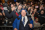 © Joel Goodman - 07973 332324 . 31/12/2013 . Manchester , UK . Cllr Pat Karney with the crowd . Revellers gather in Piccadilly Gardens ahead of the New Years fireworks display to usher in 2014 . Photo credit : Joel Goodman