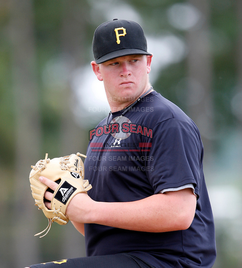 July 13, 2009:  Pitcher Brooks Pounders of the GCL Pirates during a game at Tiger Town in Lakeland, FL.  Pounders was taken in the second (2nd) round of the 2009 MLB draft.  The GCL Pirates are the Gulf Coast Rookie League affiliate of the Pittsburgh Pirates.  Photo By Mike Janes/Four Seam Images