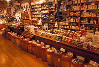 OH, Ohio, Archbold, Interior of Lauber General Store at the Historic Sauder Farm and Craft Village.