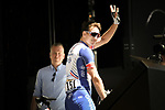 Arnaud Demare (FRA) Groupama-FDJ at sign on before the start of Stage 5 of the 2018 Tour de France running 204.5km from Lorient to Quimper, France. 11th July 2018. <br /> Picture: ASO/Pauline Ballet | Cyclefile<br /> All photos usage must carry mandatory copyright credit (&copy; Cyclefile | ASO/Pauline Ballet)