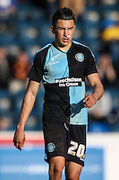 Luke O'Nien of Wycombe Wanderers during the Sky Bet League 2 match between Wycombe Wanderers and Mansfield Town at Adams Park, High Wycombe, England on 25 March 2016. Photo by David Horn.