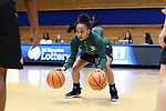 DURHAM, NC - NOVEMBER 05: Alaska Anchorage's Sydni Stallworth. The Duke University Blue Devils hosted the University of Alaska Anchorage Seawolves on November 5, 2017 at Cameron Indoor Stadium in Durham, NC in a Division I women's college basketball preseason exhibition game. Duke won the game 87-56.