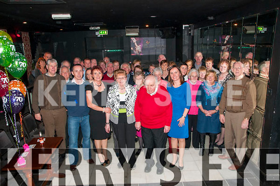 70th Birthday : Kathleen Shanahan, Kilbaha, Moyvane celebrating her 70th birthday with family & friends at the Mermaids Bar, Listowel on Friday night last.
