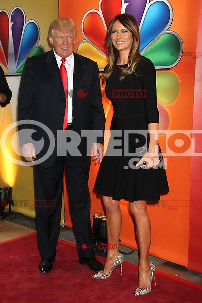 Donald Trump and Melania Trump at NBC's Upfront Presentation at Radio City Music Hall on May 14, 2012 in New York City. ©RW/MediaPunch Inc.