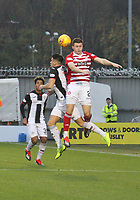 Kyle Magennis and Aaron McGowan challenge in the air in the St Mirren v Hamilton Academical Scottish Professional Football League Ladbrokes Premiership match played at the Simple Digital Arena, Paisley on 1.12.18.
