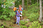 Ellie, Sophie, and Barb hiking