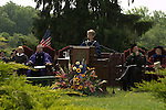 Vassar College President Catharine Bond Hill addressing graduates and families at Vassar's 2009 Commencement