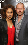 Tamara Tunie and James Badge Dale attends the press photo call for 'Building The Wall' Ripley-Grier on May 5, 2017 in New York City.