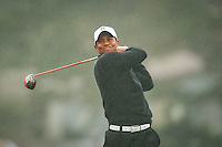 PEBBLE BEACH, CA--Tiger Woods competes in the second round of the AT&T Pebble Beach National Pro-Am Golf Championship on the Monterey Peninsula Country Club in Pebble Beach, CA.