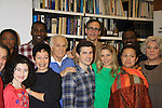 """Rehearsals for Ragtime starring One Life To Live Kerry Butler """"Claudia Reston"""" (green), Dick Latessa (Edge of Night) (blue), Matt Cavenaugh (also As The World Turns """"Adam Munson"""") (plaid), General Hospital Tyne Daly """"Caroline"""" (right), All My Children Norm Lewis """"Keith McLean"""" & now Scandal (back right), As The World Turns Lea Salonga """"Lien Hughes"""" (multi), Young and the Restless Howard McGillan """"Snapper's brother - Greg Foster"""" (back L) and Lilla Crawford (little) on February 11, 2013 for a concert at Avery Fisher Hall, New York City, New York on Monday February 18, 2013. (Photo by Sue Coflin/Max Photos)"""
