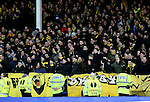 BSC Young Boys fans sing - UEFA Europa League Round of 32 Second Leg - Everton vs Young Boys - Goodison Park Stadium - Liverpool - England - 26th February 2015 - Picture Simon Bellis/Sportimage