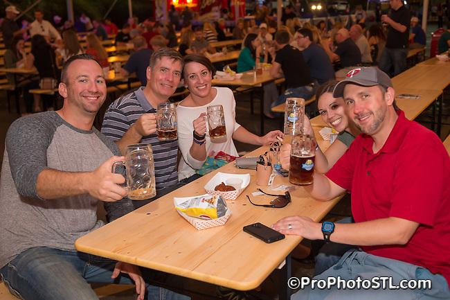 Anheuser-Busch Octoberfest event at Anheuser-Busch biergarten in St. Louis, Missouri on Sept 25-27, 2015.