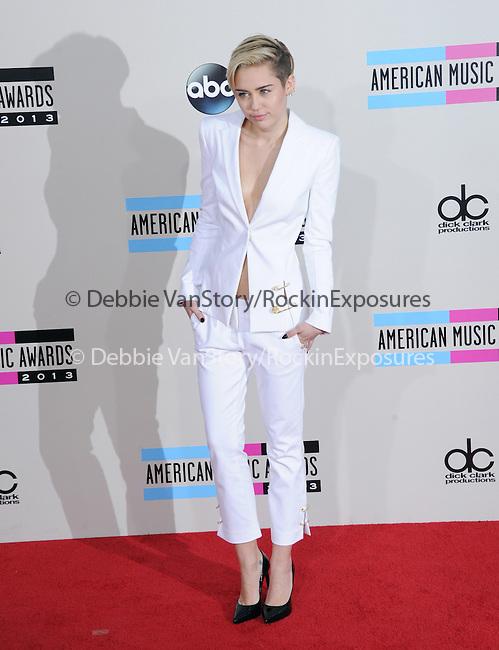 LOS ANGELES, CA - NOVEMBER 24: Miley Cyrus arrives at   The 2013 American Music Awards held at Nokia Live in Los Angeles, California on November 24,2013                                                                               © 2013 Hollywood Press Agency