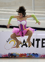 CALI – COLOMBIA – 21 – 09 – 2015: Cassandra Seidel, deportistas de Estados Unidos, durante la prueba de Solo Danza Juvenil Damas en el LX Campeonato Mundial de Patinaje Artistico, en el Velodromo Alcides Nieto Patiño de la ciudad de Cali. / Cassandra Seidel, sportwoman from United States, during the Compulsory Solo Dance Junior Ladies test, in the LX World Championships Figure Skating, at the Alcides Nieto Patiño Velodrome in Cali City. Photo: VizzorImage / Luis Ramirez / Staff.