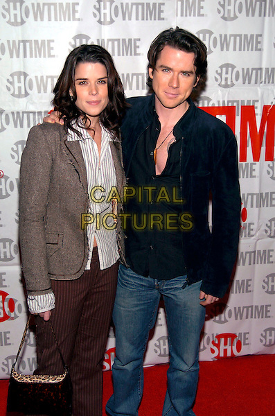 NEVE CAMPBELL & CHRISTIAN CAMPBELL.The Showtime Winter TCA Party held at Universal Studios, Universal City, California, USA, 12 January 2005..half length brother sister family.Ref: ADM.www.capitalpictures.com.sales@capitalpictures.com.©Jacqui Wong/AdMedia/Capital Pictures .