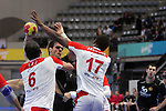 Tej, Simovic & Jallouz. TUNISIA vs MONTENEGRO: 27-25 - Preliminary Round - Group A