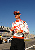 Feb 08, 2009; Daytona Beach, FL, USA; NASCAR Sprint Cup Series driver Joey Logano during qualifying for the Daytona 500 at Daytona International Speedway. Mandatory Credit: Mark J. Rebilas-
