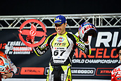 3rd February 2019, Palau Sant Jordi, Barcelona, Spain; FIM X Trial World Championships; Adam Raga of the TRRS Team celebrates his victory after the Trial Barcelona