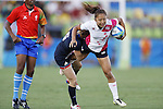 Marie Yamaguchi (JPN), <br /> AUGUST 6, 2016 - /Rugby : <br /> Women's Pool Round Pool C <br /> between  Great Britain 0-40 Japan Women's <br /> at Deodoro Stadium <br /> during the Rio 2016 Olympic Games in Rio de Janeiro, Brazil. <br /> (Photo by Yusuke Nakanishi/AFLO SPORT)