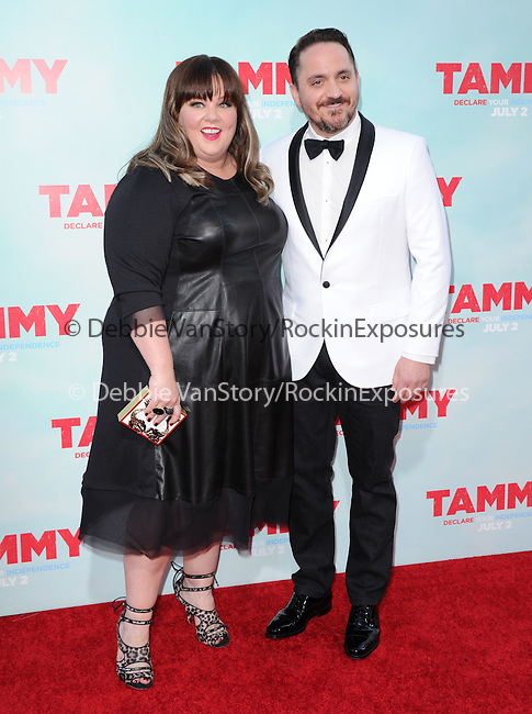 Melissa McCarthy and Ben Falcone at The Warner Bros. Pictures' L.A. Premiere of Tammy held at The TCL Chinese Theatre in Hollywood, California on June 30,2014                                                                               © 2014 Hollywood Press Agency