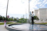 Sculpture outside the Shedd Aquarium.  Chicago Illinois USA