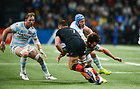 17th November 2019,  Paris La Défense Arena, Hauts-de-Seine, France; Champions Cup Rugby Union, Racing 92 versus Saracens;  B Earl ( Saracens ) tackled by MAXIME MACHENAUD (Racing )