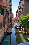 Tranquil Venetian Canal in the Siestri Santa Croce
