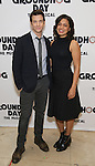 """Andy Karl and Barrett Doss  attends the """"Groundhog Day'' press day at The New 42nd Street Studios on February 2, 2017 in New York City."""