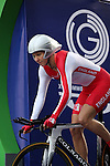 Glasgow 2014 Commonwealth Games<br /> <br /> Joanna Rowsell (England) competing in the Women's time trial race.<br /> <br /> 31.07.14<br /> &copy;Steve Pope-SPORTINGWALES