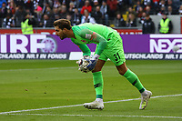 Torwart Kevin Trapp (Eintracht Frankfurt) - 14.04.2019: Eintracht Frankfurt vs. FC Augsburg, Commerzbank Arena, 29. Spieltag DISCLAIMER: DFL regulations prohibit any use of photographs as image sequences and/or quasi-video.