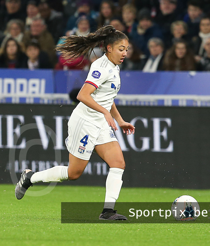 20191116 – LYON ,  FRANCE ; Lyon's Selma Bacha is with the ball during a women's soccer game between Olympique Lyonnais and PARIS SG on the 9th matchday of the French Women's first league , D1 of the 2019-2020 season , Saturday 16 th November 2019 at the Groupama stadium in Lyon , France . PHOTO SPORTPIX.BE | SEVIL OKTEM
