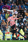 Gareth Bale of Real Madrid competes for the ball with Javier Eraso Goni of Athletic Club during their La Liga match between Real Madrid and Athletic Club at the Santiago Bernabeu Stadium on 23 October 2016 in Madrid, Spain. Photo by Diego Gonzalez Souto / Power Sport Images