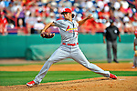 7 March 2012: St. Louis Cardinals pitcher Kevin Siegrist on the mound against the Washington Nationals at Space Coast Stadium in Viera, Florida. The teams battled to a 3-3 tie in Grapefruit League Spring Training action. Mandatory Credit: Ed Wolfstein Photo