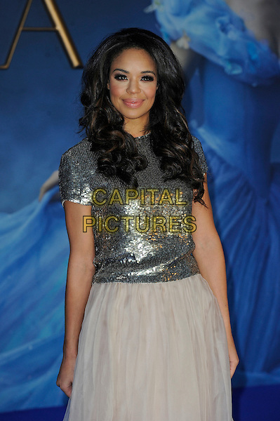 LONDON, ENGLAND - MARCH 19: Sarah Jane Crawford attending the 'Cinderella' UK Premiere at Odeon Cinema, Leicester Square on March 19, 2015 in London, England<br /> CAP/MAR<br /> &copy; Martin Harris/Capital Pictures