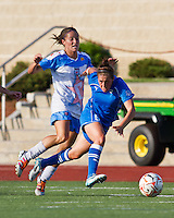 Boston Breakers forward Amanda DaCosta (5) breaks away from Chicago Red Stars defender/midfielder Julianne Sitch (38).  The Boston Breakers beat the Chicago Red Stars 1-0 at Dilboy Stadium.