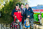 At the  Abbeydorney Coursing on Sunday was Joe Dennehy with Cutting Edge, David and Toby Morgan with Luke the Bear,