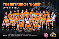 The Entrance Tigers pose for their 2014 Team Photo in the Arthur Lake Room at The Entrance Leagues Club in Bateau Bay, NSW Australia (Photo by Paul Barkley/LookPro)