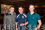 Pictured at the Kick Boxing fight night in The Devon Inn, Templeglantine last Saturday night was Dan Doherty(Templeglantine), Christopher Kelliher(Abbeyfeale) and Eric O'Sullivan (Abbeyfeale).