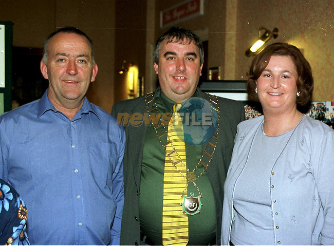 Pat Black and Jan Black with Mayor of Drogheda, Cllr. Sean Collins at the 40th anniversary of the Lourdes Brass Band and Majorettes.