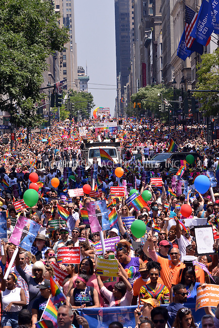 www.acepixs.com<br /> <br /> June 26 2016, New York City<br /> <br /> Participants attending the New York City Pride 2016 Parade on June 26, 2016 in New York City.<br /> <br /> <br /> By Line: Curtis Means/ACE Pictures<br /> <br /> <br /> ACE Pictures Inc<br /> Tel: 6467670430<br /> Email: info@acepixs.com<br /> www.acepixs.com