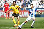 CD Leganes' Martin Mantovani (r) and Malaga CF's Pablo Fornals during La Liga match. February 25,2017. (ALTERPHOTOS/Acero)