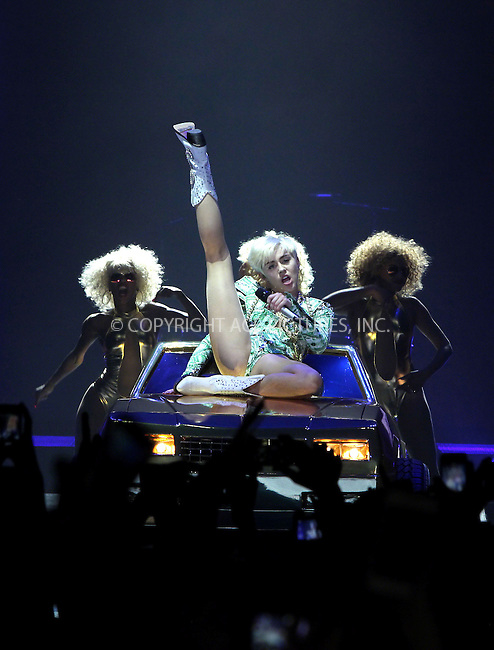 WWW.ACEPIXS.COM<br /> <br /> May 6 2014, New York City<br /> <br /> Singer Miley Cyrus performs at the O2 Arena on May 6 2014 in New York City<br /> <br /> By Line: Famous/ACE Pictures<br /> <br /> <br /> ACE Pictures, Inc.<br /> tel: 646 769 0430<br /> Email: info@acepixs.com<br /> www.acepixs.com